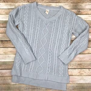 Faded Glory Gray Sparkle women's sweater Large